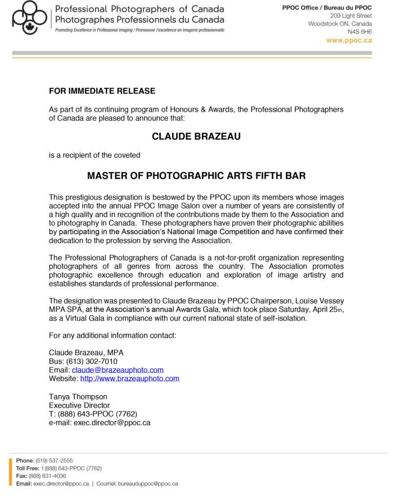 Press release Bar 5