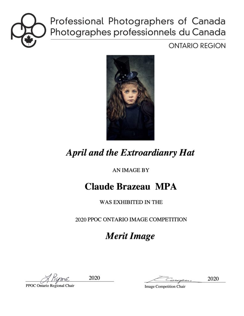 April and the Extraordinary Hat PPOC Ontario Merit